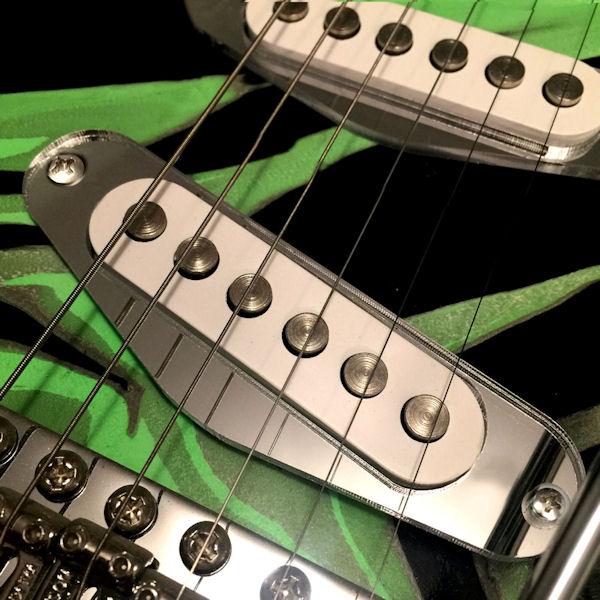 Chrome Single Coil Pickup Montagering mit Schrauben für E-Gitarre