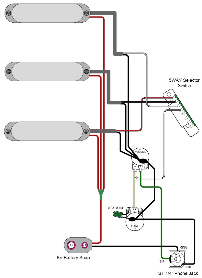 GuitarHeads Pickup Wiring - Active Pickups on humbucker pickup diagram, humbucker pickup wiring, 4 conductor humbucker wiring-diagram, humbucker guitar wiring diagrams, humbucker wiring colors, humbucker wiring options,