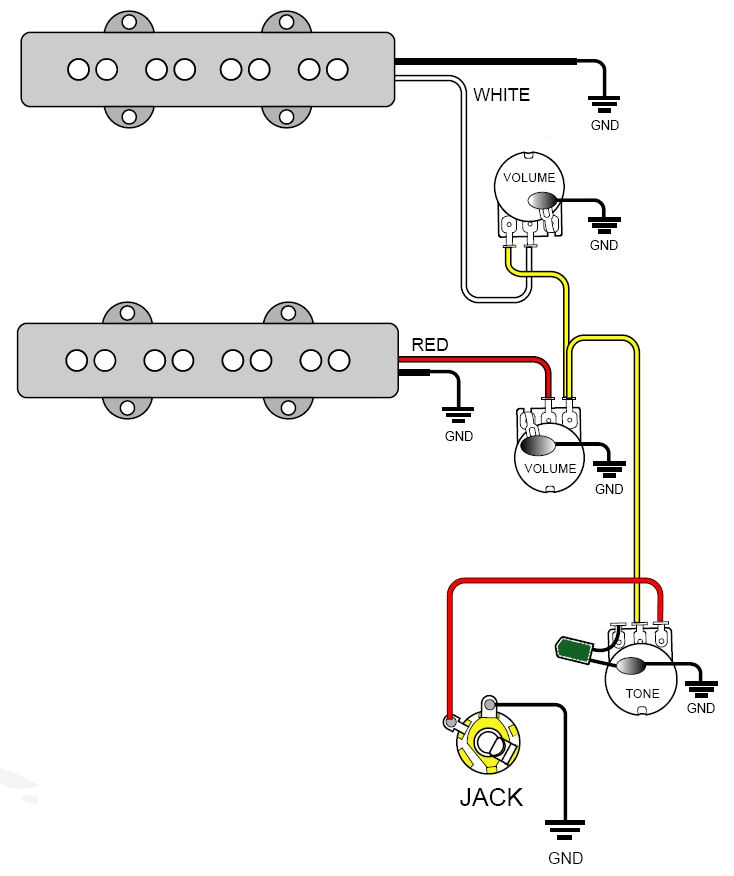 Bass Wiring Diagram: bass pickup wiring diagrams guitar pickup wiring schematic guitar ,Design