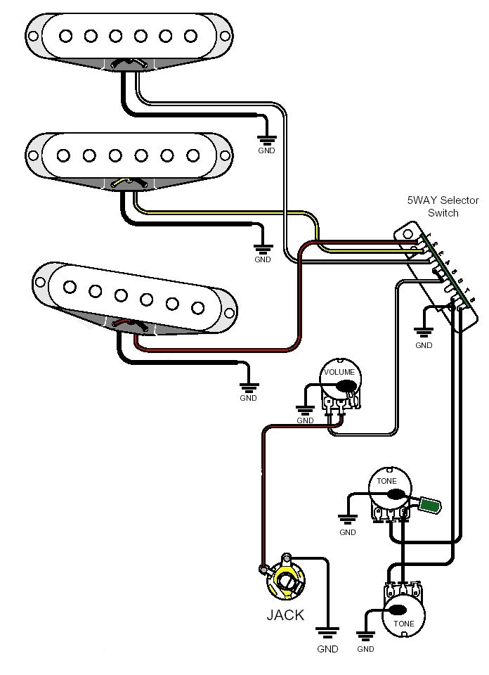 Single Pickup Guitar Wiring Diagram Wiring Diagrams Click