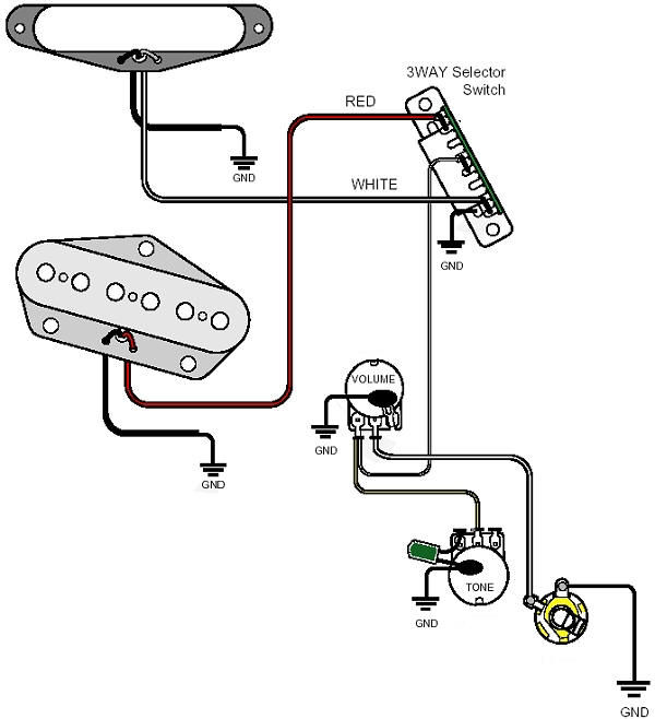 Basic Single Humbucker Wiring Diagram from www.guitarheads.net